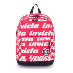 Carlson LETTERING Invicta Backpack Rosa Bianco