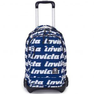 Trolley Invicta PLUG LETTERING Zaino Sganciabile e Lavabile Blu Bianco