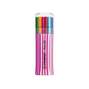 Stabilo Pen 68 Single Pack rosa bianco