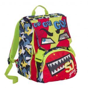 Sj Face Seven School Pack Boy Zaino Estensibile + Astuccio Rosso