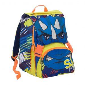 Sj Gang Animal Seven School Pack Boy Zaino Estensibile + Astuccio Blu