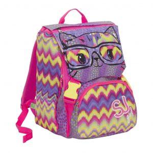 Sj Gang Fashion Seven School Pack Girl Zaino Estensibile + Astuccio Quick Case