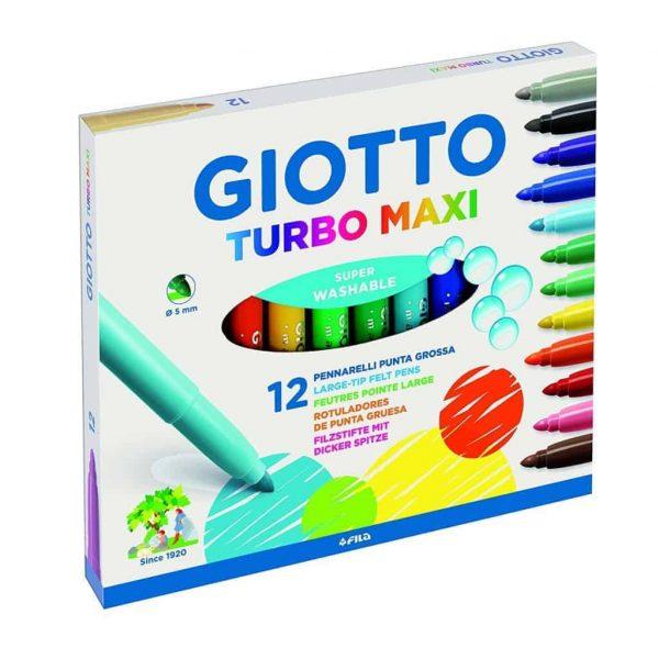 Pennarelli Giotto Turbo Maxi - 12 colori