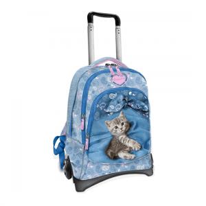 Zaino Trolley Rachaelhale smontabile gatto Astro azzurro