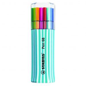 Stabilo Pen 68 Single Pack azzurro/bianco