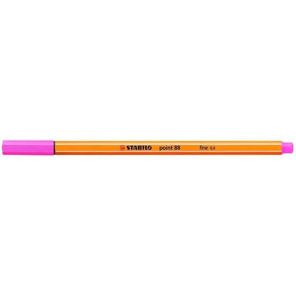 Stabilo pennarello punta fine Point 88 rosa