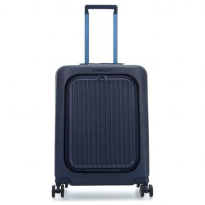Trolley Piquadro cabina rigido porta pc Seeker blu