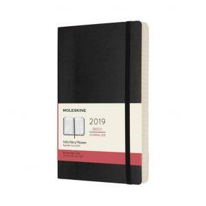 Agenda Moleskine 2019 12 mesi giornaliera vert. 13x21 flessibile nero