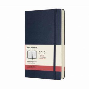 Agenda Moleskine 2019 12 mesi giornaliera vert. 13x21 rigida blu