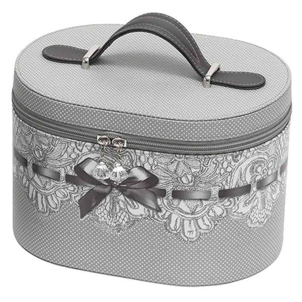 Beauty case da viaggio MATHILDE M Madmoiselle Marquise grey 28x17.5x18