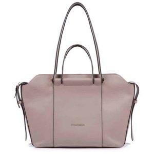 Borsa Piquadro shopping bag in pelle beige