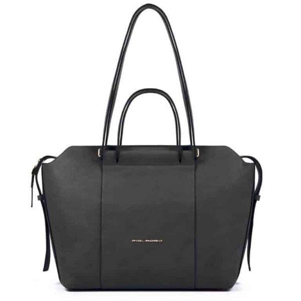 Borsa Piquadro shopping bag in pelle nero