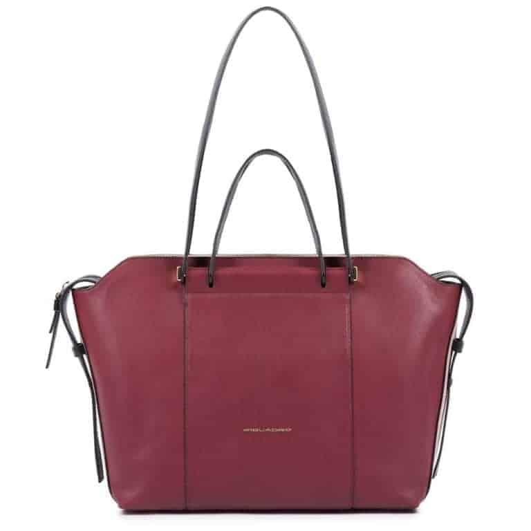 Borsa Piquadro shopping bag in pelle rosso