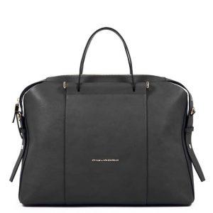 Cartella Piquadro porta pc/iPad due manici in pelle nero