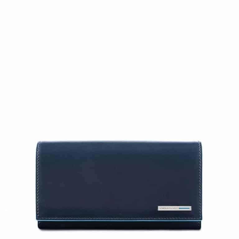14e4a6c80b Portafoglio Piquadro donna 3 soffietti in pelle Blue Square blu