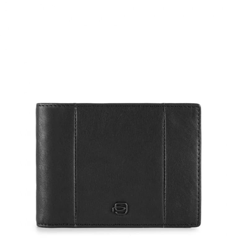 86989af9ed Portafoglio Piquadro uomo con portamonete in pelle Brief nero