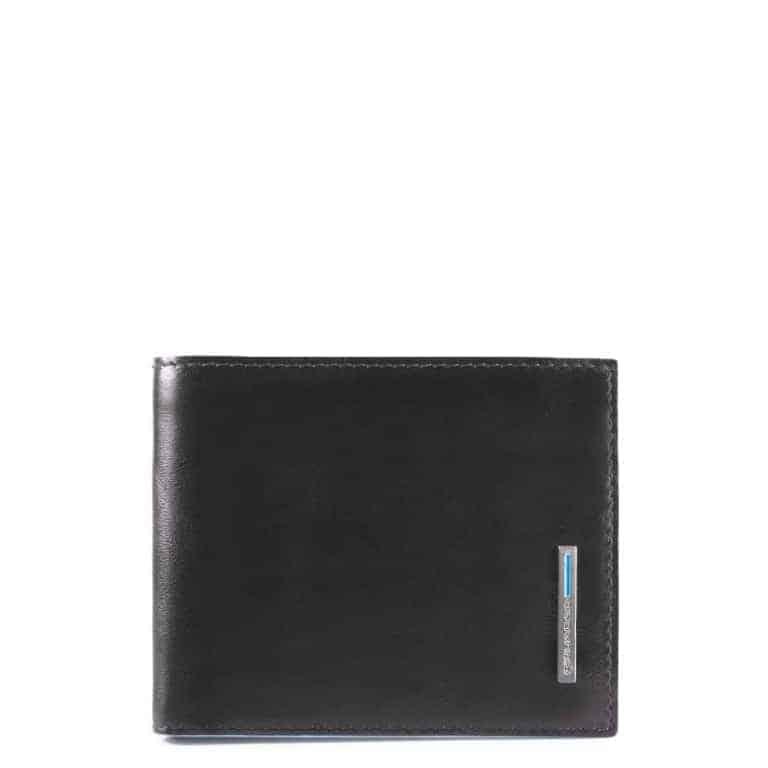 15399a998d Portafoglio Piquadro uomo piccolo in pelle Blue Square nero
