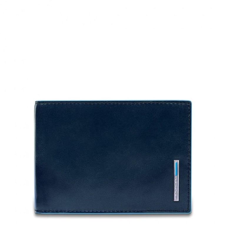 31dc25b694 Portafoglio Piquadro uomo portamonete in pelle Blue Square blu