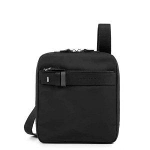 Borsello Piquadro porta iPad mini pelle tessuto Hexagon nero