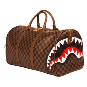 Borsone Sprayground SHARKS IN PARIS DUFFLE brown