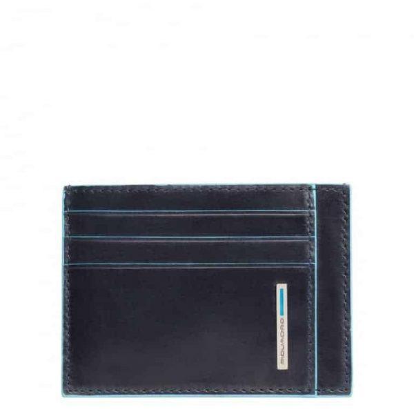 Bustina Piquadro uomo porta carte tascabile pelle Blue Square blu