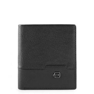 Porta carte di credito Piquadro in pelle Line nero