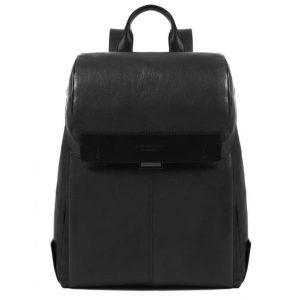 Zaino  Piquadro porta computer e porta iPad Pyramid in pelle nero