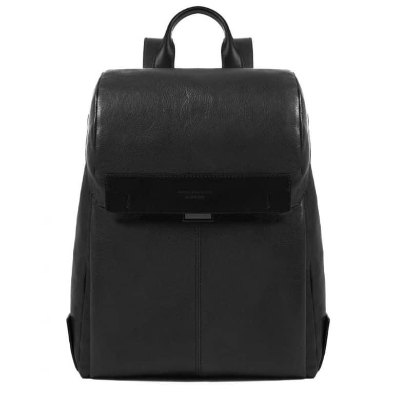 Zaino Piquadro porta computer e porta iPad Pyramid in pelle nero. Offerta e177ff45452