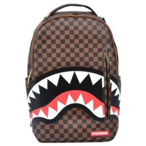 Zaino Sprayground SHARK in Paris Brown zip gold