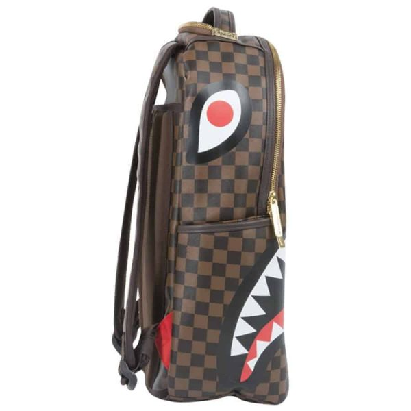 Zaino Sprayground SHARK in Paris Brown zip gold – 910B1890NSZ