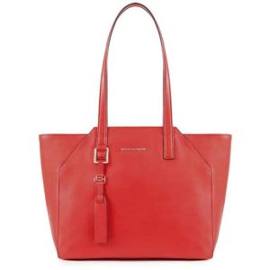 Borsa Piquadro shopping bag porta iPad in pelle Muse rosso