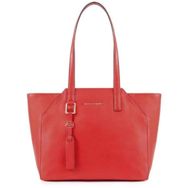 Borsa Piquadro shopping bag porta iPad in pelle Muse rosso