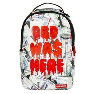 Zaino Sprayground DBD Was Here In Red Blood On Money Pattern