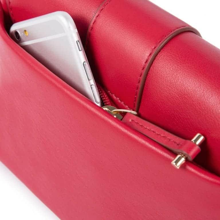 40585ad0e8 Borsa Piquadro donna a tracolla in pelle Lol rosso