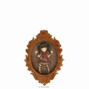 Spilla in legno Gorjuss Ruby