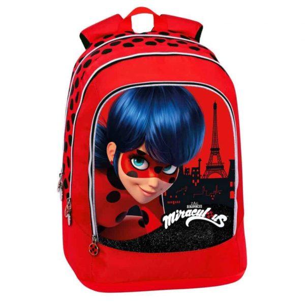 Zaino MIRACULOUS LadyBug advanced girl rosso nero