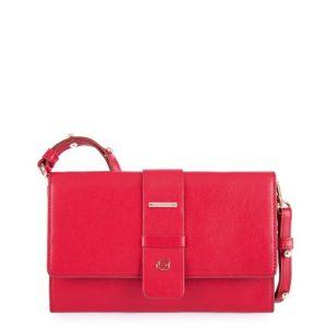 Pochette Piquadro donna con vano porta smartphone in pelle Lol rosso