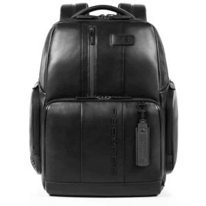 Zaino Piquadro fast-check porta PC/iPad in pelle Urban nero