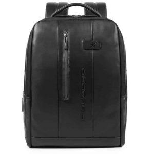 Zaino Piquadro porta PC/iPad con cavo antifurto in pelle Urban nero
