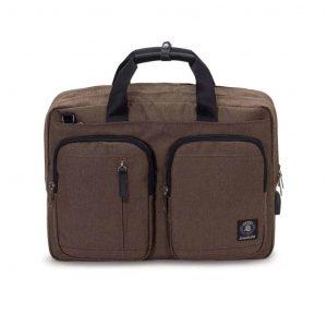 Cartella Zaino Invicta Business Pack marrone/grigio EarPhone Omaggio
