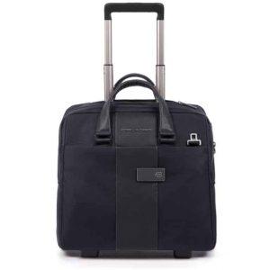 Cartella trolley Piquadro porta PC e porta iPad in tessuto Brief blu