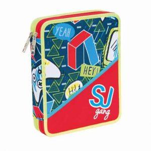 Seven Astuccio Maxi 2 Zip SJ Boy Rosso
