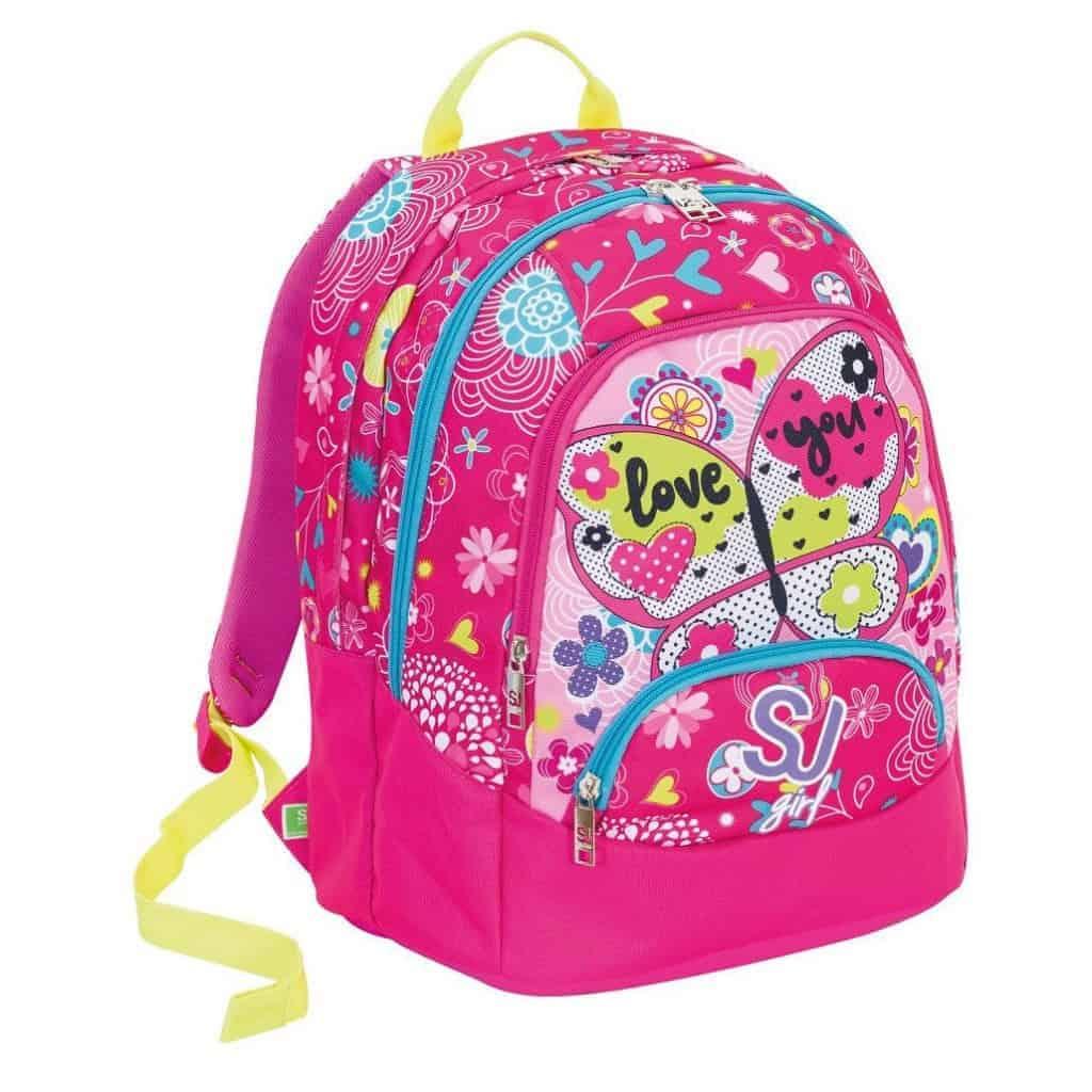 49fc0278023563 Sj Gang Seven School Pack Girl Zaino Maxi + Astuccio Fucsia