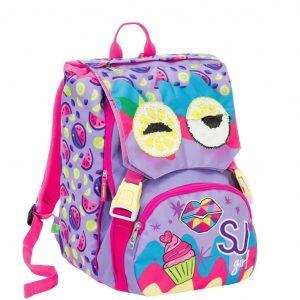 School-Pack-Seven-Facce-da-SJ-Girl-Zaino-Estensibile-Astuccio-3-Piani-Viola-6C2001914-VIO-1