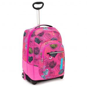 Trolley SEVEN Fit Shiny Girl 35 Lt 2in1 Zaino con spallacci a scomparsa Rosa