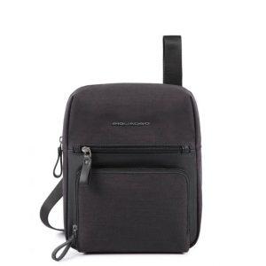 Borsello Piquadro porta iPad pelle e tessuto Tiros nero