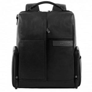 Zaino Piquadro porta pc e iPad con cavo antifurto in pelle BagMotic nero