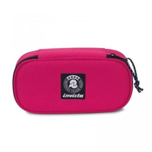Lip Xl Pencil Bag Plain Invicta Raspberry Wine