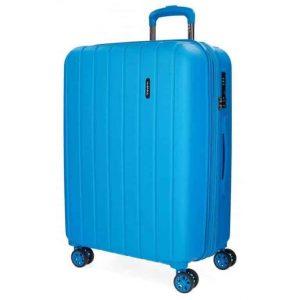 Trolley Movom medio estensibile 70 WOOD 4 ruote azzurro