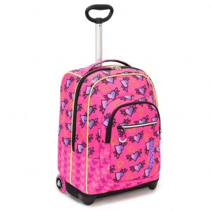 Trolley SEVEN Fit Nymfe Girl 35 Lt 2in1 Zaino con spallacci a scomparsa Rosa